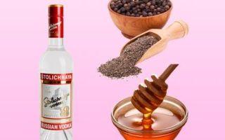 Водка от кашля — с медом, перцем и сахаром