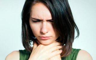 Как помочь и почему возникает першение в горле и сухой кашель
