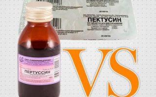 Что лучше принимать во время кашля Пертуссин или Пектусин