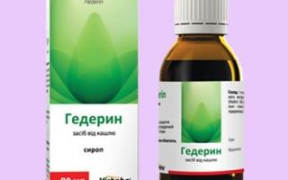 Гедерин, инструкция по применению сиропа от кашля