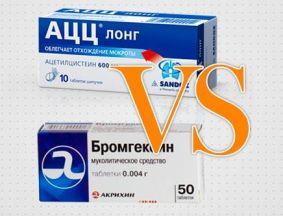 АЦЦ (Ацетилцистеин) или Бромгексин: что лучше и можно ли принимать их вместе
