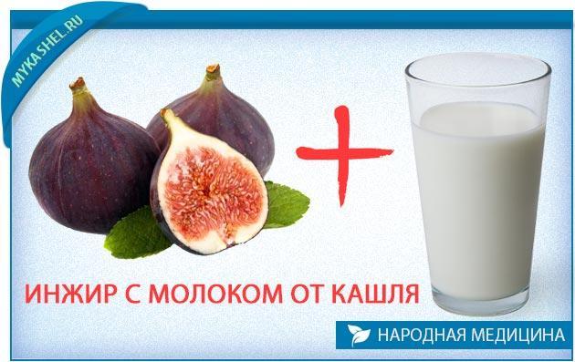 Молоко с инжиром от кашля рецепт приготовления