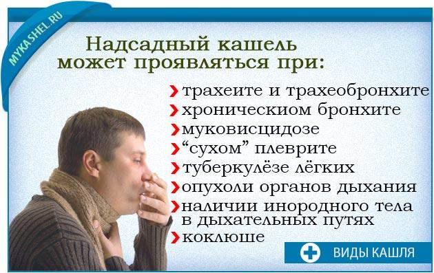 надсадный кашель может проявляться