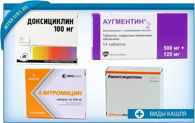 антибиотики при кашле вызванном бактериальной инфекцией