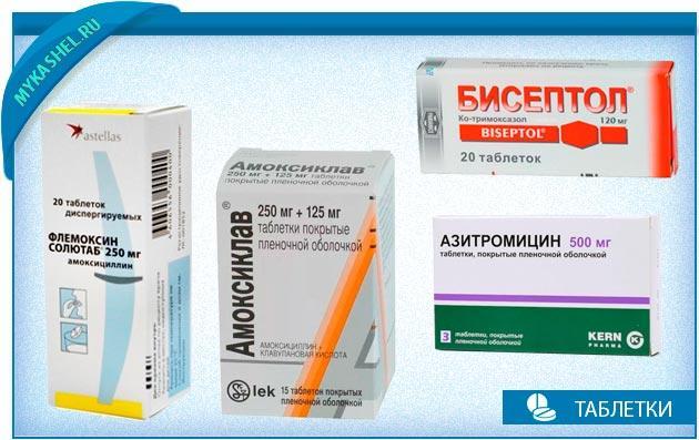 таблетки антибоктериальные при кашле