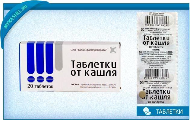 таблетки от кашля инструкция
