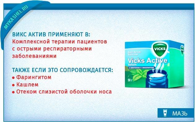 мази Viks Active
