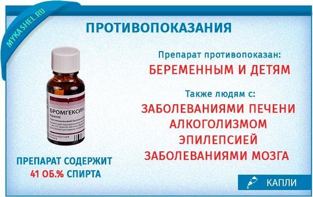 противопоказания капель бромгексидина