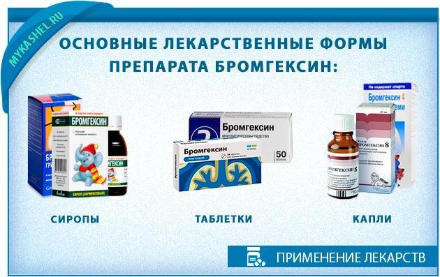 Формы Бромгексина