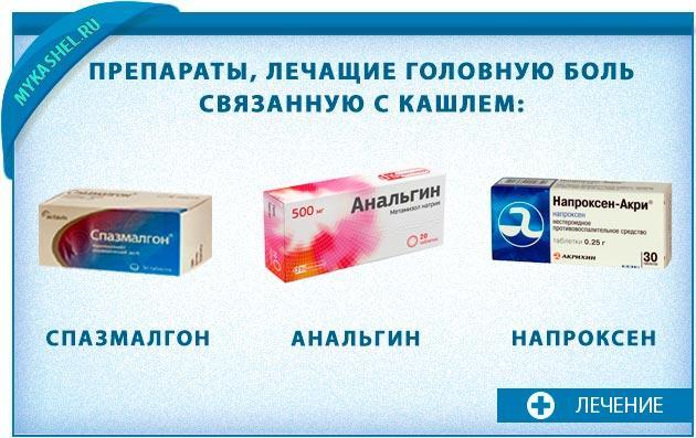 Лечащие препараты болей головы