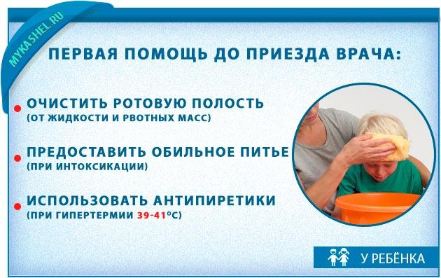 Первая помощь ребенку при этом симтоме