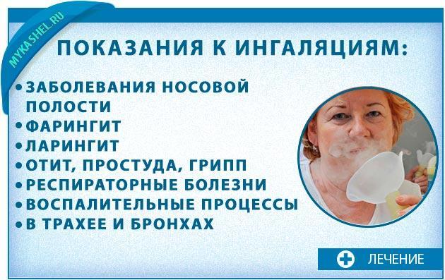 Показания ингаляций при кашле