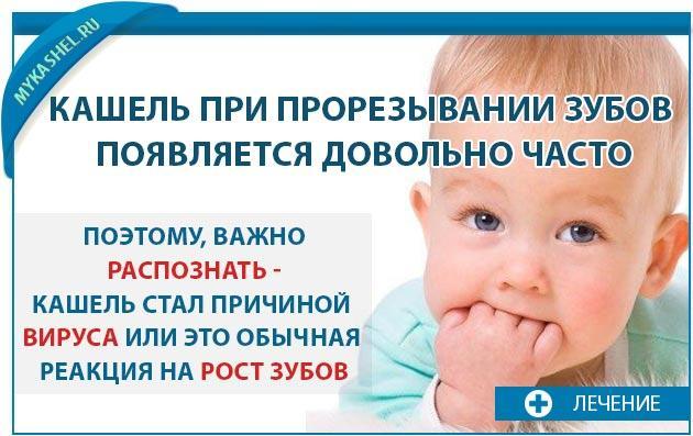 Кашель проявляется часто когда режуться зубки