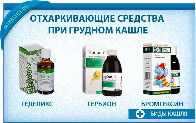 Отхаркивающие средства при грудном кашле