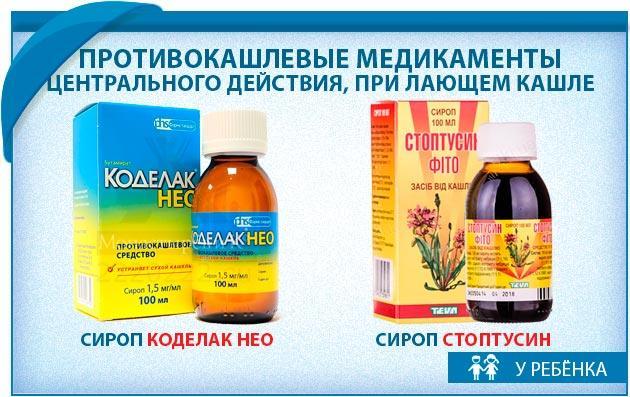 Противокашлевые медикаменты при этом виде кашля