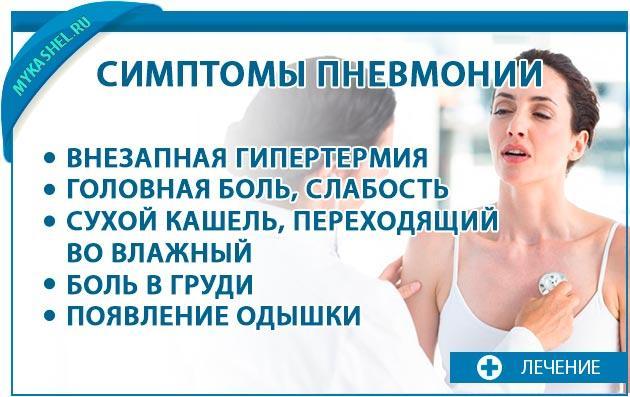 Симптомы кашля при пневмонии