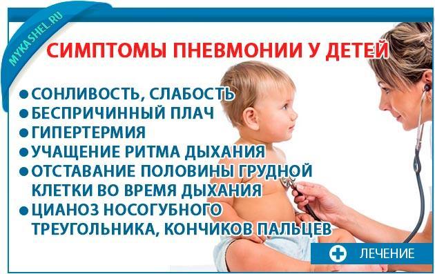 Симптомы пневмонии у детей