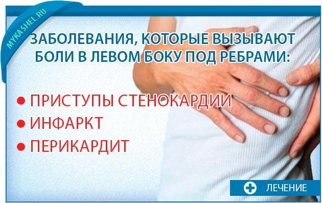 Заболевания при боли с левого бока
