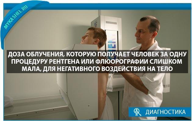 Доза облучения при рентгене и флюорографии