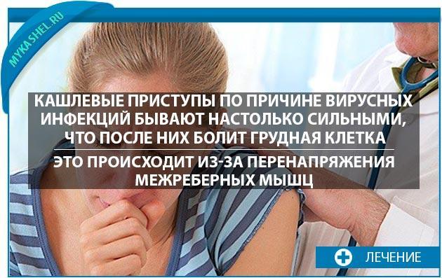 Кашлевые приступы при вирусных инфекциях