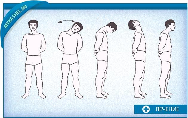 Круговые повороты головы при кашле