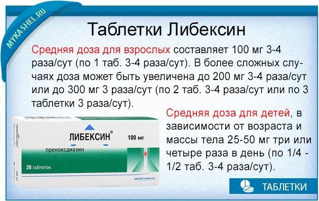 как правильно принимать таблетки либексин