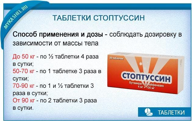как правильно принимать таблетки стоптуссин